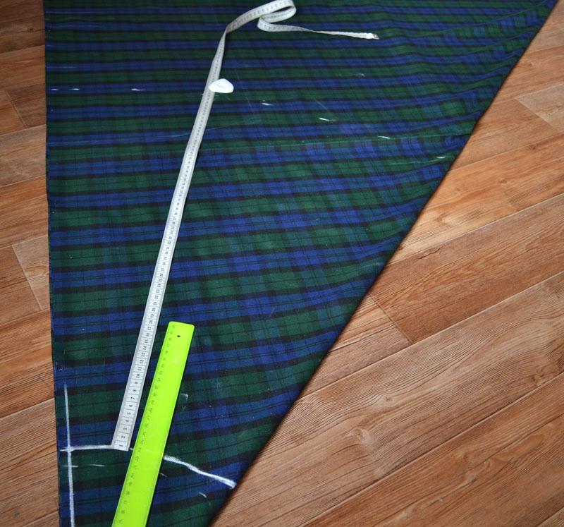 Расчет построения юбки полусолнца