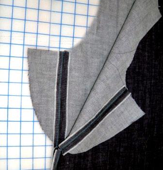 Раскладка кроя брюк на ткани