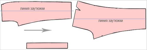 Раскладка кроя брюк и расход ткани
