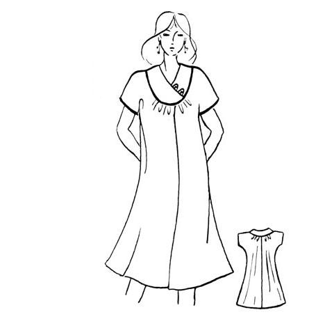 Ночная сорочка покроя кимоно
