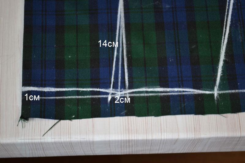 Построение прямой юбки на ткани-шаг 10