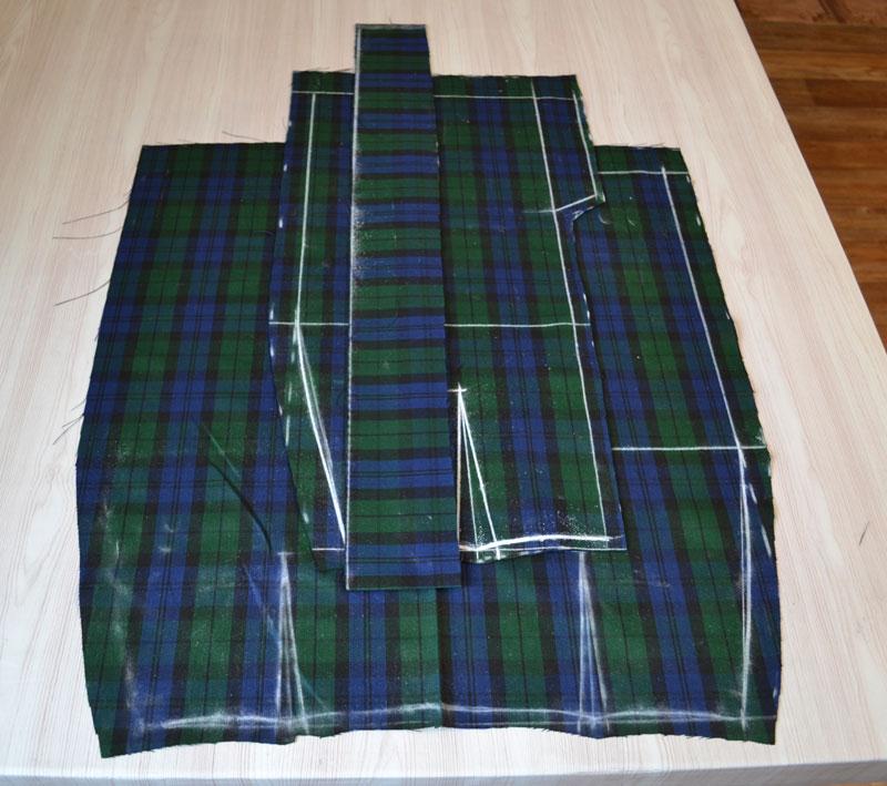 Построение прямой юбки на ткани-шаг 12