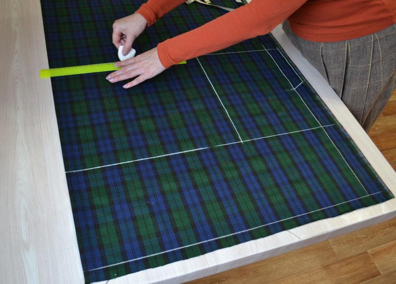 Построение прямой юбки на ткани-шаг 4