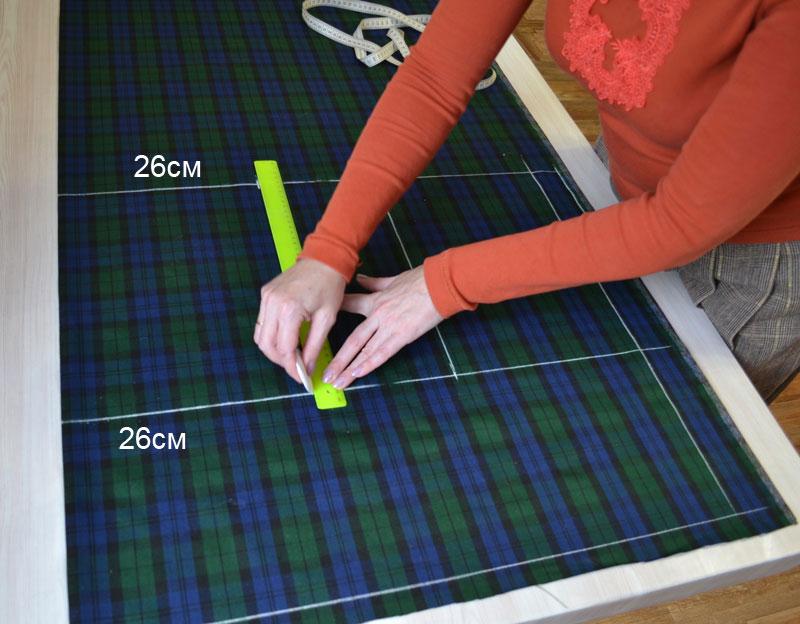Построение прямой юбки на ткани-шаг 5