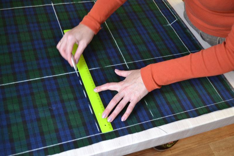 Построение прямой юбки на ткани-шаг 6
