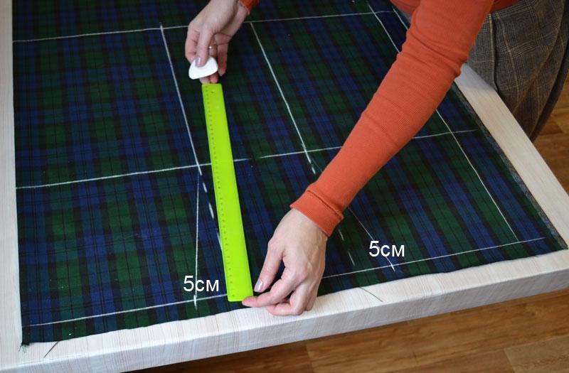 Построение прямой юбки на ткани-шаг 7