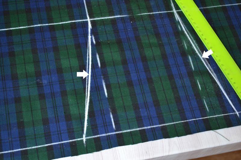 Построение прямой юбки на ткани-шаг 8