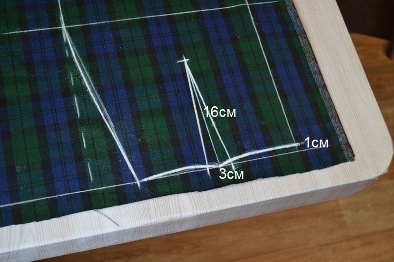 Построение прямой юбки на ткани-шаг 9