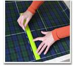 Построение выкройки юбки на ткани