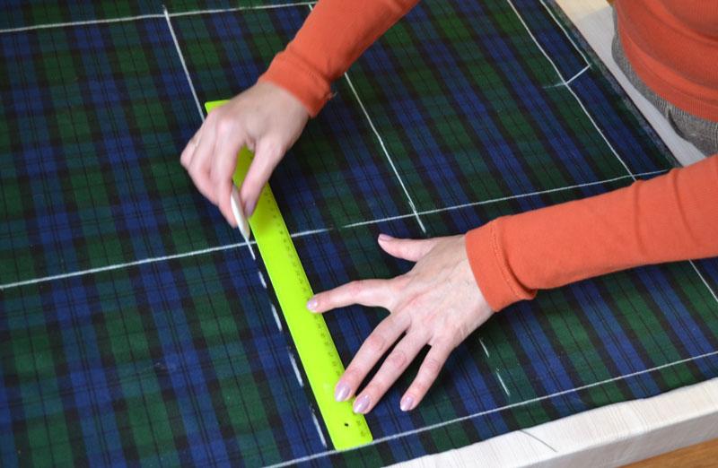 Построение прямой юбки на ткани