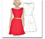 Выкройка основы прямого платья