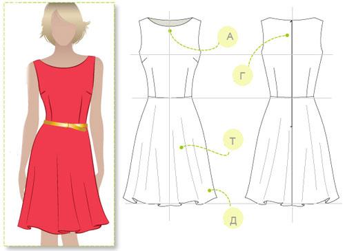 Пошив юбки в схемах