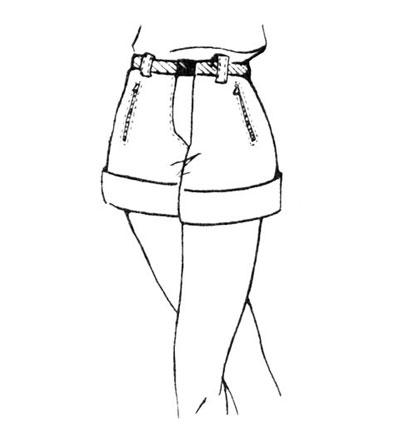 Короткие брюки-шорты